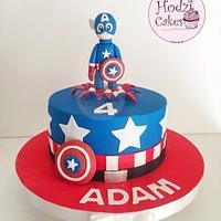 Captain America Cake✊🏻🇺🇸💙❤️
