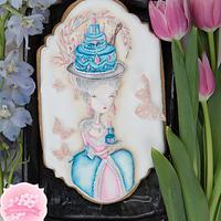 Dimensional Marie Antoinette Birthday Cookie 👒🎂👸