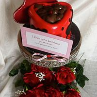 Valentines day chocolate heart box