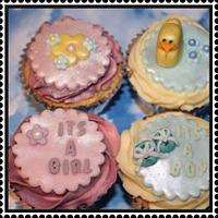 Baby show cupcakes