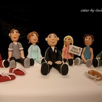 Gumpaste family celebration cake by Louise Jackson Cake Design