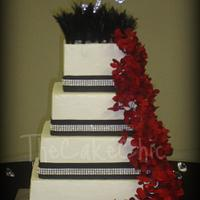 Feather Wedding Cake