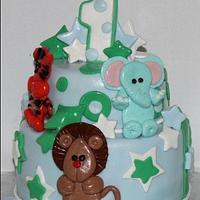 Animal Fun Birthday Cake
