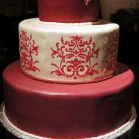 Victorian style baby shower cake by Olivia Elias