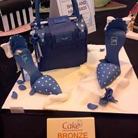 Polka dot Handbag and matching shoes by Lisa Wheatcroft