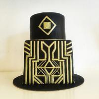 Black and gold cakr