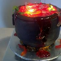 Witch's Cauldron Cake