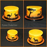 My first airbrushed cake Africa!