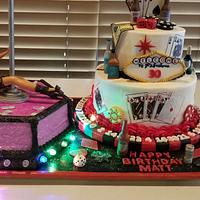 Miraculous Las Vegas Casino Stripper Themed 30Th Birthday Cakes Cakesdecor Funny Birthday Cards Online Alyptdamsfinfo