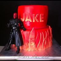 Red Skull Cake