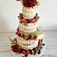 Nake Wedding cake