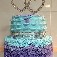 Ruffles & Petals Wedding cake