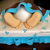 Baby Rump Baby Shower Cake