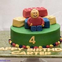 Lego man cake