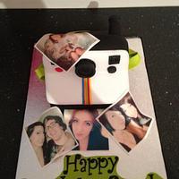 Polaroid camera cake