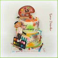Hand Lettering cake