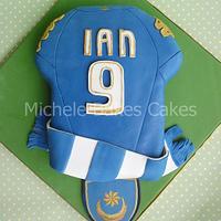 Portsmouth Football Club Shirt Cake
