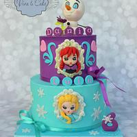 Frozen Cake with the whole bunch