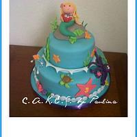 Princess Isabella's under the sea cake!