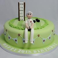 Bowls Themed Birthday Cake by Ceri Badham