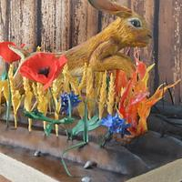 Tiffany aching inspired, hare leaping the flames. Entry ant NISE.