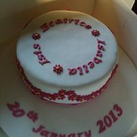 Christening cake by Tina Harrigan-James