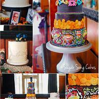 Dia De Los Muertos Wedding Cake Offrenda Table