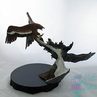 Cakes From Middle Earth - Fell Beast VS Eagle