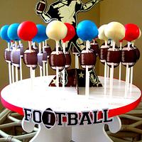 Superbowl cake pops!