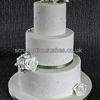 Edible Lace, Sugar Roses and Freesias