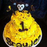 Monkey & Banana Cake by cakesbymary