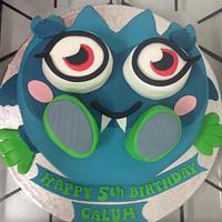 Moshi Monster 5th birthday cake