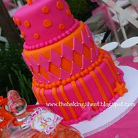 Pink & Orange Sweet 16 Cake!