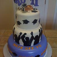 Graduation cake by Tetyana