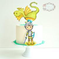 Tarta Infantil Caballero y Dragón