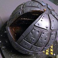 Star Wars Death Star Cake by Shantal