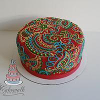 Red Henna Cake