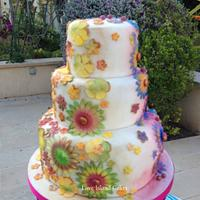 Moroccan styled wedding cake