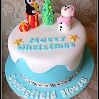 Dollybird Bakes - Christmas Sponge 2012