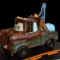 3D Tow Mater Cars Cake by Katie Goodpasture