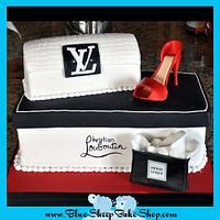 High Fashion Shoe and Purse Cake