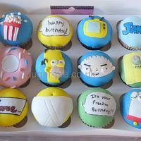 Simpson & Family Guy cupcakes