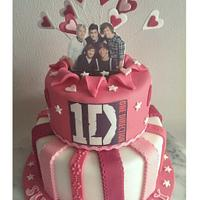 pink one direction cake