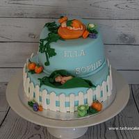 Vegetable Garden Baby Shower Cake