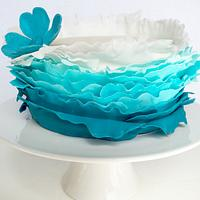 Ombré Frilled Birthday Cake