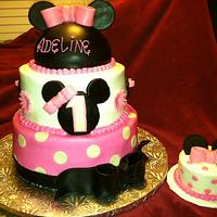 Minnie Mouse 1st Birthday w/ Smash Cake