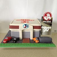 Car dealership retirement cake