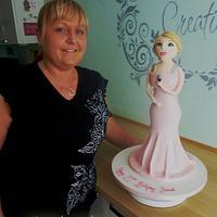 Full Figure 21st Birthday Cake