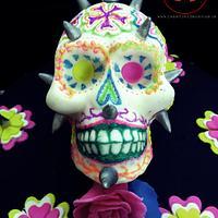 Neon Punk Skull- Sugar Skull Bakers2017