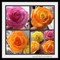 Simple Sugar roses for Demonstration... No cutters All free form